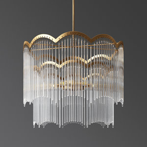 moroccan glass chandelier 3D