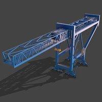 PBR Port Container Crane - Blue Light
