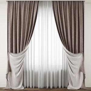 curtain fabric drape 3D model