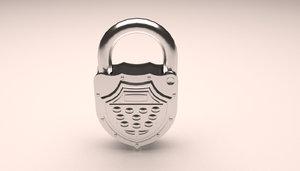 3D lock locker model