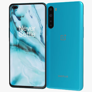 realistic oneplus nord blue 3D model