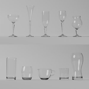 different glasses 3D model