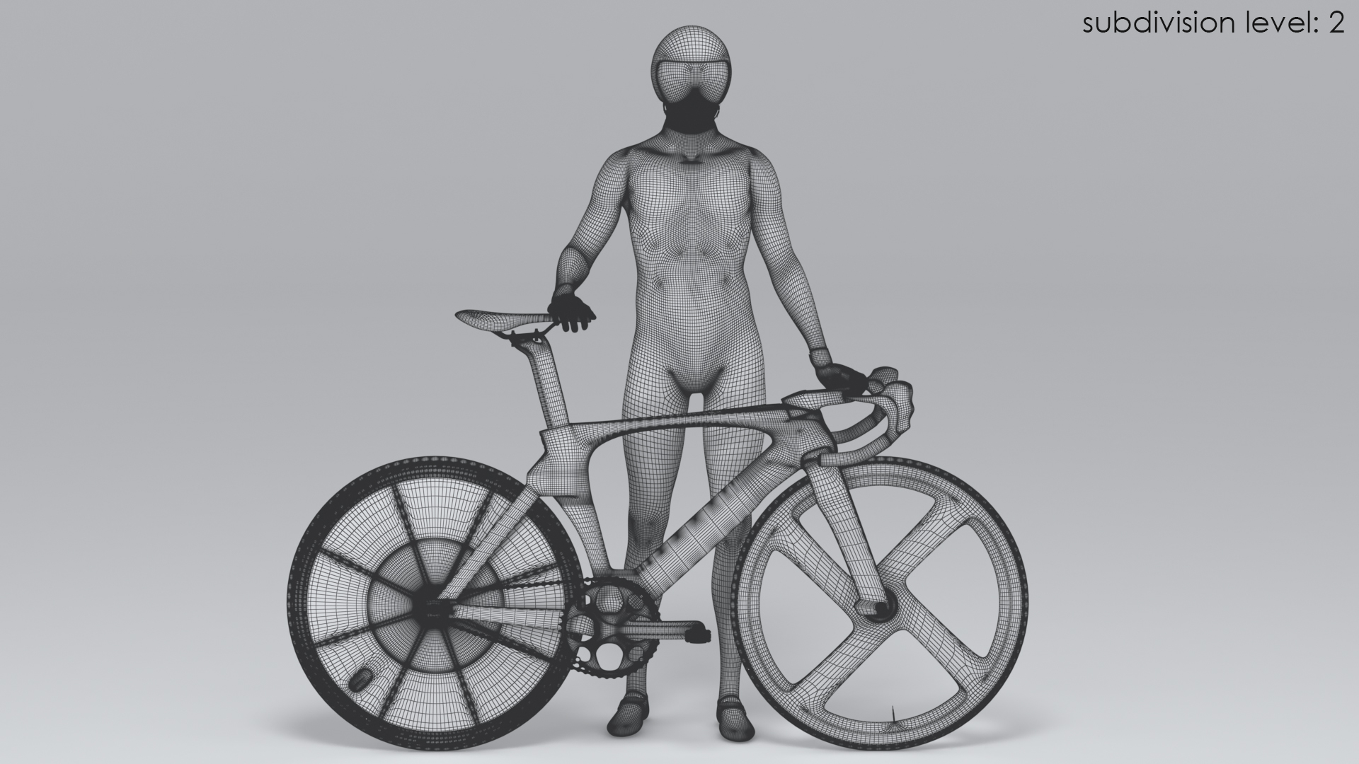 cyclist animation model