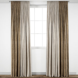 curtain fabric drape 3D