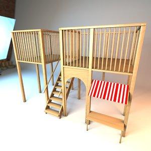 playground classroom interior 3D model