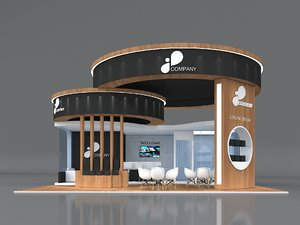 3D model exhibition booth stand stall