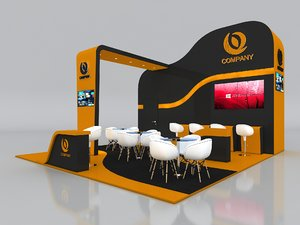 exhibition booth stand stall 3D