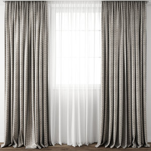 3D curtain fabric drape