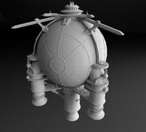 starship spaceships 3D model