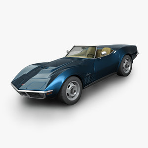 3D chevrolet corvette convertible 1970