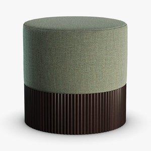 3D model pouf -