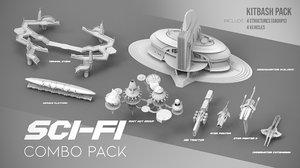 sci-fi pack 3D