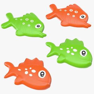 3D small fish bath toy model