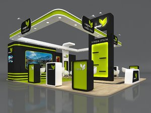 3D booth exhibit stand model