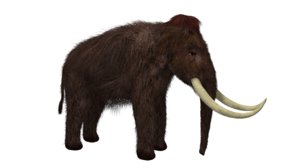 3D nature animal mammoth