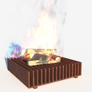 fireplace 09 3D model