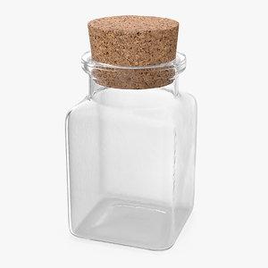 3D small kitchen storage jar model