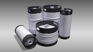 containing keg barrel 3D model