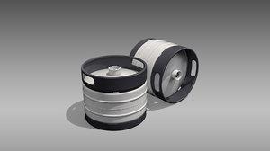 3D keg quarter barrel