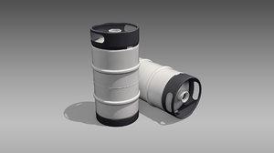 keg slim quarter barrel 3D model