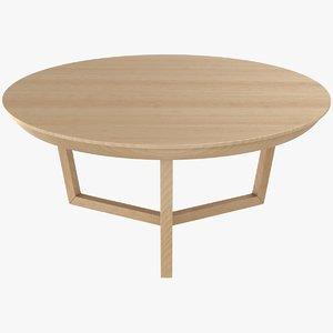 3D model tripod coffee table