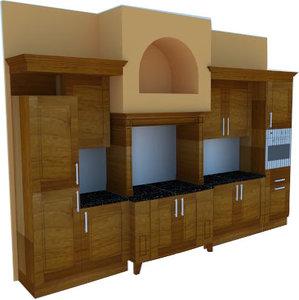 modern classic pantry 3D