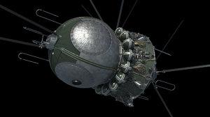 spacecraft vostok 1 3D model