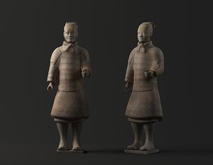 3D terracotta warriors horses funerary model
