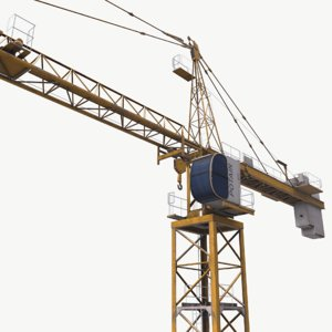 tower crane potain mc 3D model