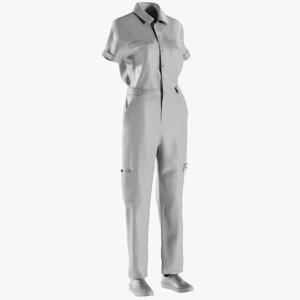 mesh women s overalls 3D model