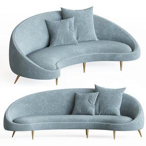 3D ether curved sofa jonathanadler model