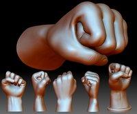 Fist hand gesture knuckle STL file 3D printable male