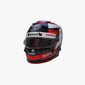 raikkonen 2020 helmet 3D model