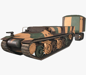 3D lorraine 37l tank model