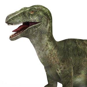 velociraptor dinosaur pbr 3D model