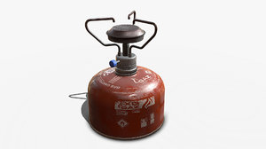 pbr gas burner 3D model