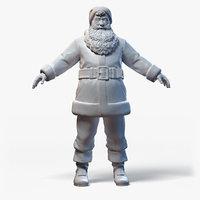 Santa Claus Character Base Mesh