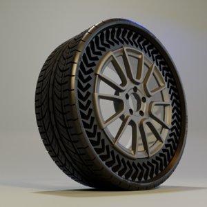 3D michelin uptis tyre wheel