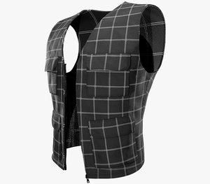 casual vest style 5 3D model