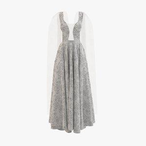 3D model dress cloth