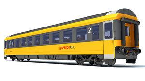 3D train passenger car