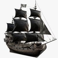 Galleon Black Pearl Pirate Ship