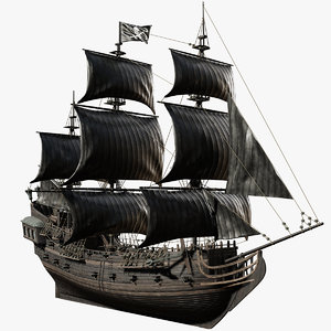 3D black pearl pirates