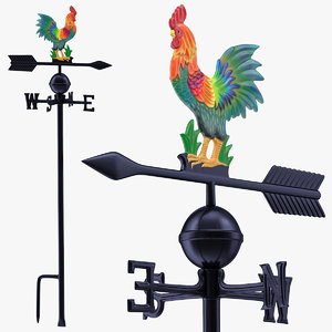 3D painted rooster weathervane weather