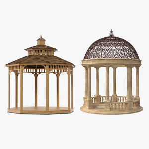 garden gazebos 3D model
