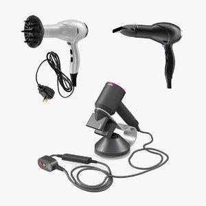 hair dryers hot air 3D model