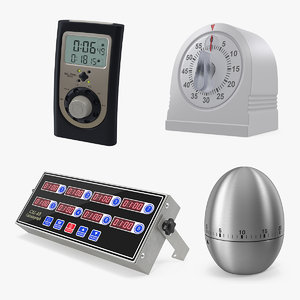 3D kitchen timers 2 time model