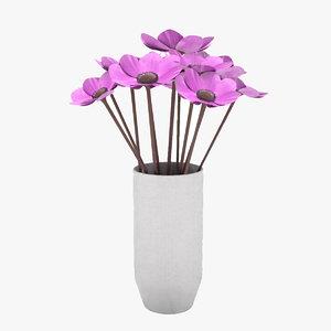 3D flower anemone