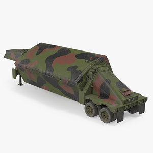 3D camouflage tpy2 radar rigged
