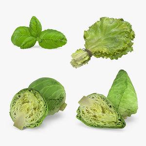 3D salad greens
